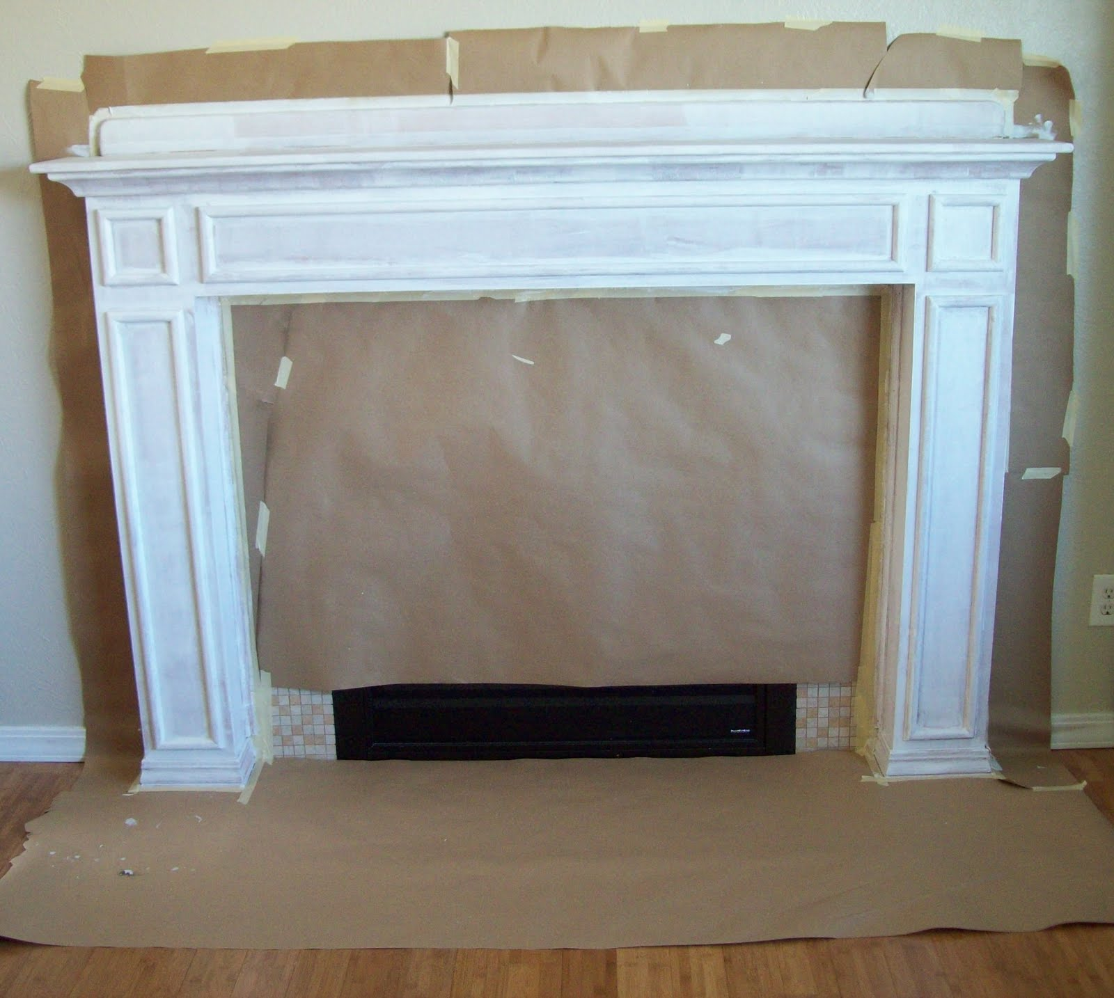 running with scissors how to paint your mantle
