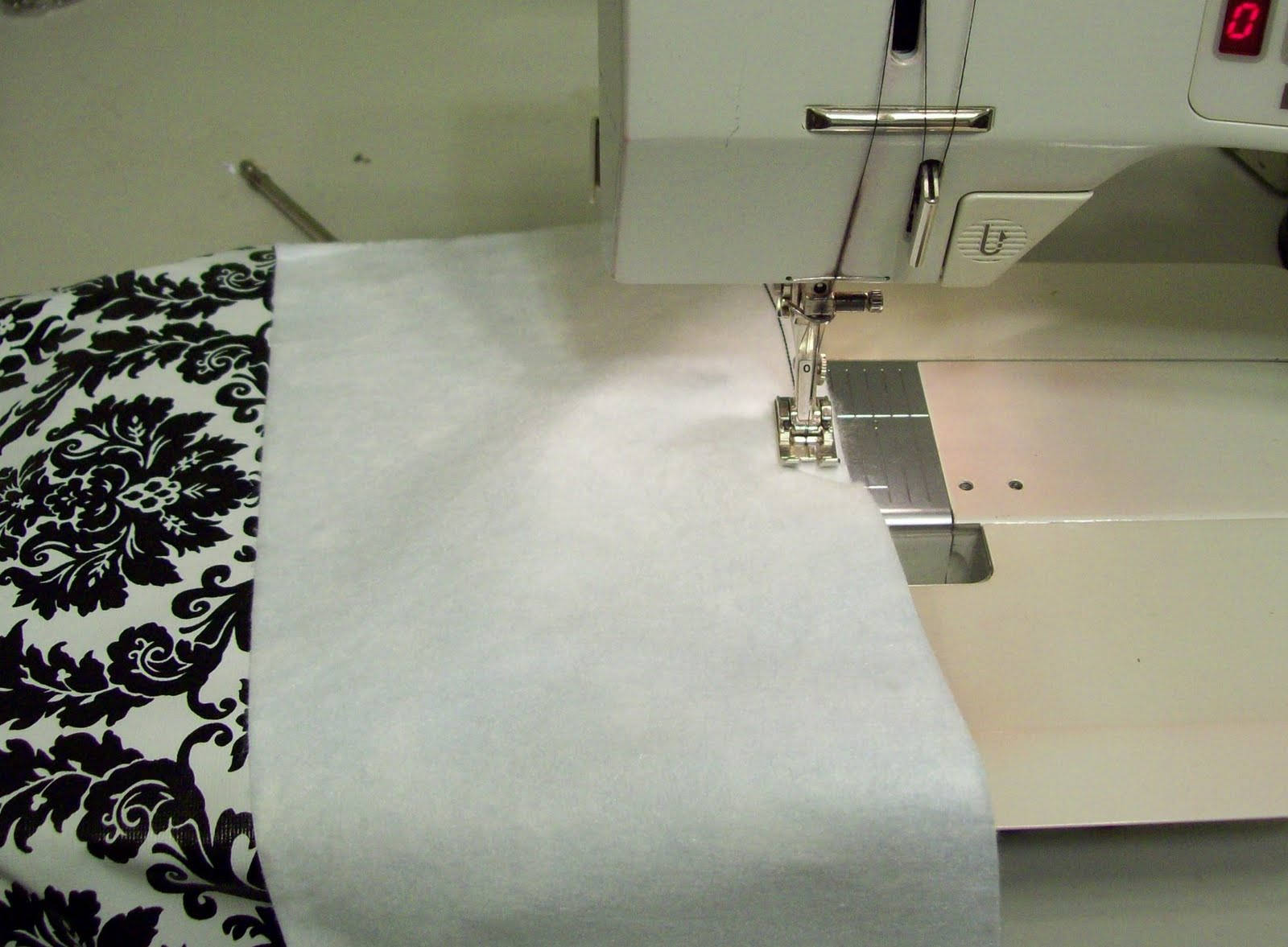 Beginning Near One Corner, And Leaving A Few Inches Unsewn, Sew The Long  Strip To The Square Of The Tablecloth, Right Sides Together.