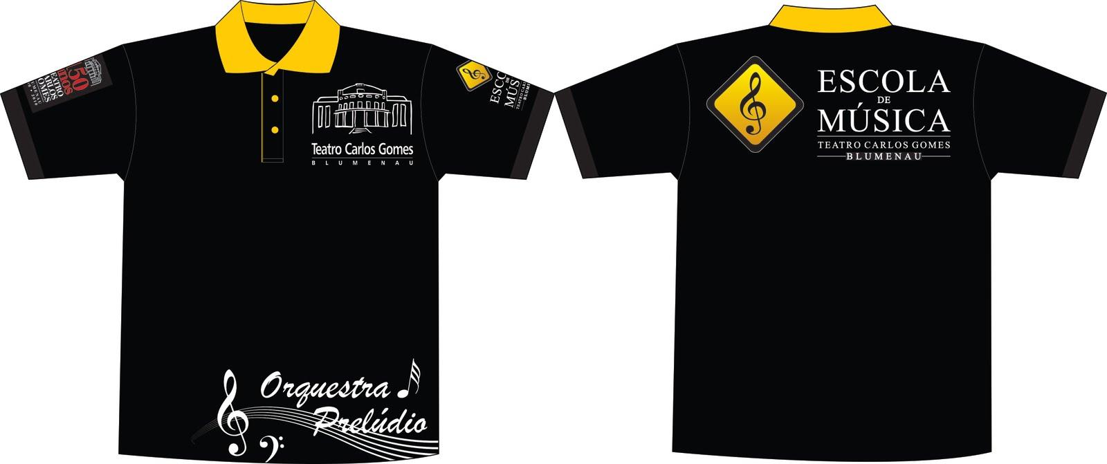 Camisetas Da Escola De M  Sica E Orquestra Prel  Dio