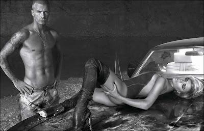 David and Victoria Beckham in America