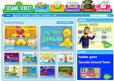 elmo sesame street games preschool