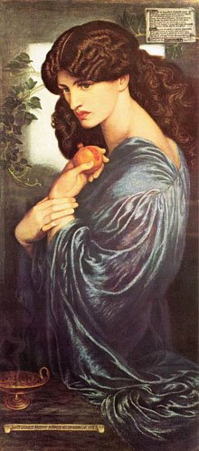 """Prosperine"" Dante Gabriel Rossetti, 1874"