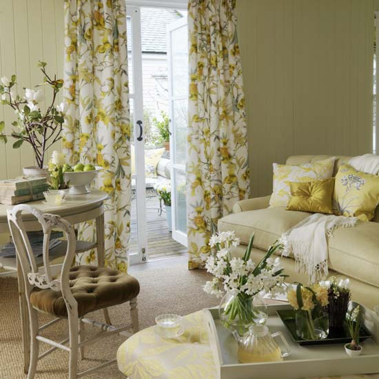 Cantinho da eli cortinas com estampas florais for Cortinas para salones pequenos