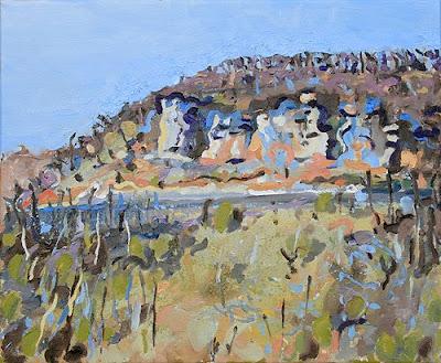 st.avit de senieur,dordogne, paintng of rock cliffs