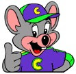 Chuck E. Cheese... where an adult can have a migraine!