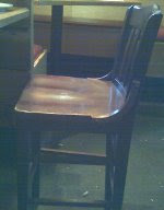 The actual 'wobbly' chair