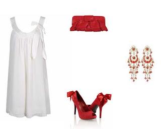 Accesorios para vestidos blancos de fiesta