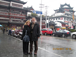 Michael and Kay in Shanghai at YuYuan Gardens and Market