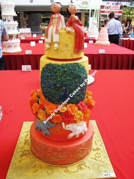 was the only Indian wedding cake among all the 80 entries