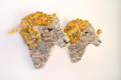 Wonderful Pixellated Sculptures Art by Shawn Smith Seen On www.coolpicturegallery.net