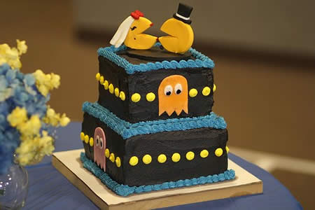 Pacman Wedding Cake Topper