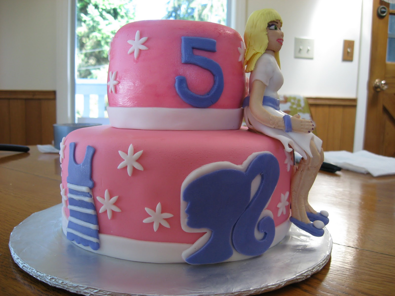 Barbie Themed Birthday Cake