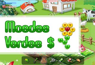 moedas verdes colheita feliz orkut