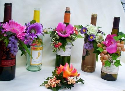 Centros De Mesa Con Flores Y Botellas