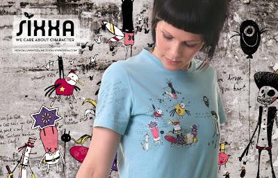 sixxa tshirt character design