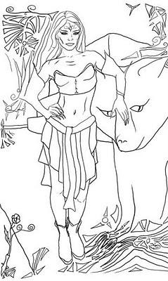 Девушка с медвежонком