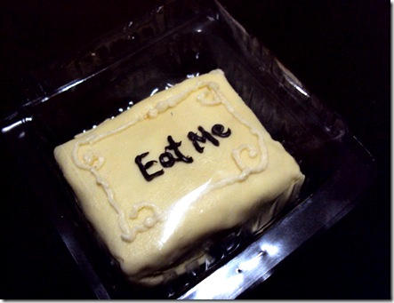 "19th Day Miniatures Works in Progress: An ""Eat Me"" cake ... 