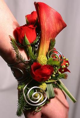 Red Calla Bride Corsage