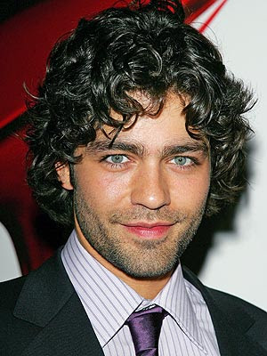 Adrian Grenier with curly hairstyles, if you have naturally curly hair,