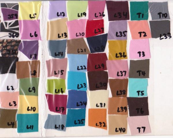 Lycra Colour Scheme