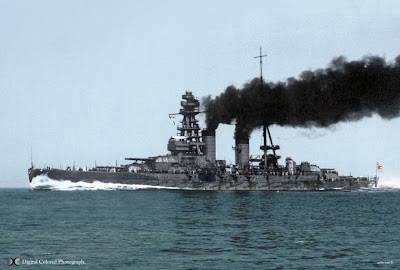 Nagato 長門 was a battleship of the Imperial Japanese Navy, the lead ship of her class. She was the first battleship in the world to mount 16 inch class ...