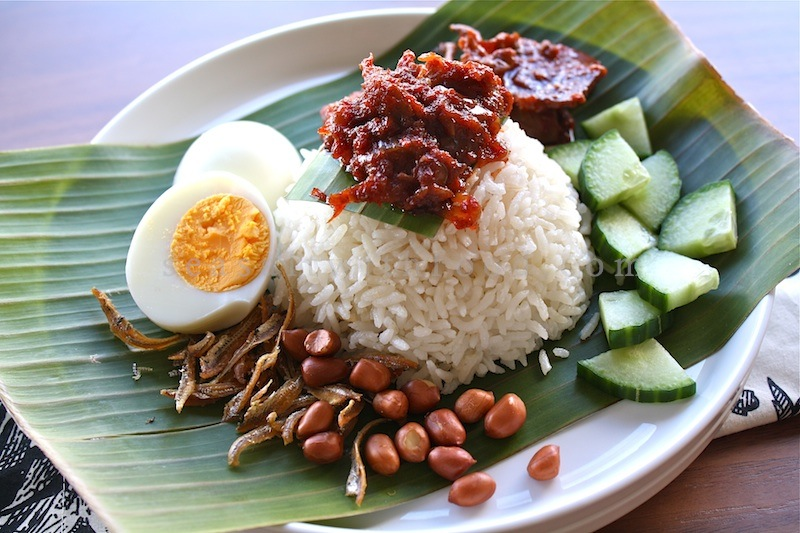 seasaltwithfood nasi lemak with dried anchovies sambal