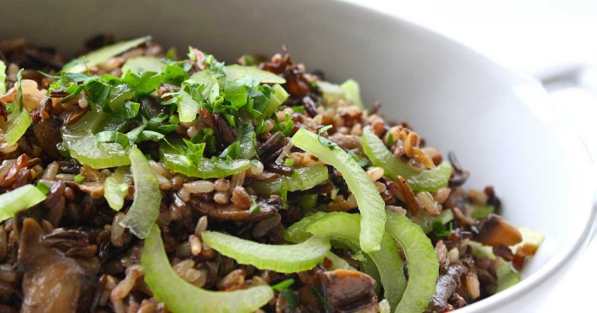 Seasaltwithfood: Wild Rice Salad With Mushroom Ragout