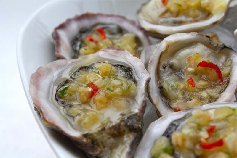 Seasaltwithfood: Kusshi Oyster With Pineapple Mignonette Sauce