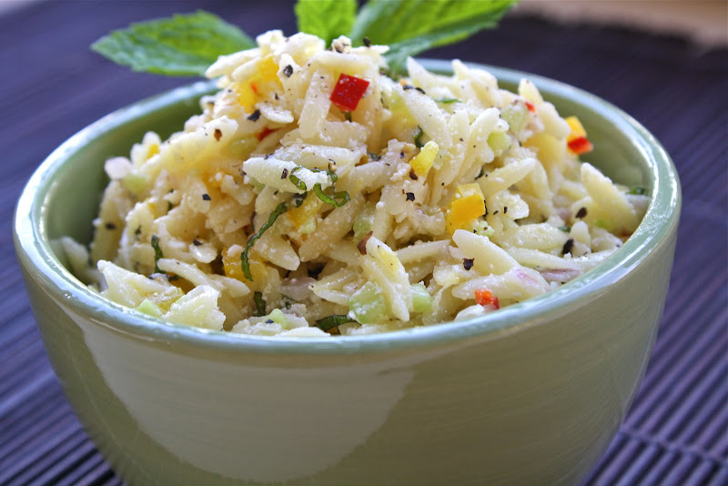 SeasaltwithfoodOrzo Salad With Lemon, Mint And Ricotta Salata