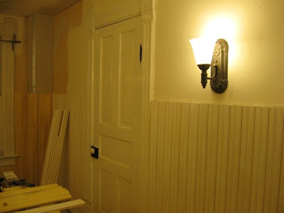 Bathroom Wall Coverings on 1893 Victorian Farmhouse  Bathroom   Installing Sconces And Priming