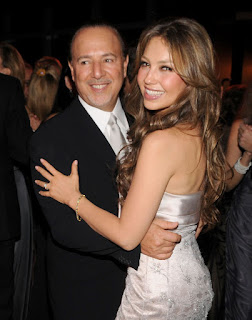 Tommy Mottola and Thalia - Photo by Patrick McMullan