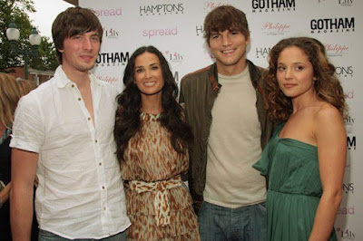 Edgar Dutreil, Demi Moore, Ashton Kutcher and Margarita Levieva