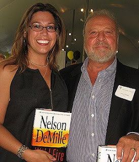 Nicole B Brewer and author Nelson DeMille at 4th Annual Authors Night- Photo by Barry Gordin