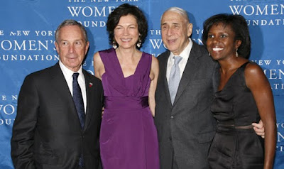 Mayor Michael Bloomberg, Diana L. Taylor, honoree Herbert Sturz, and host Deborah Roberts