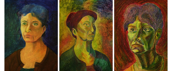 Subjective color, Oil pastel on paper, Grace Shin, Soram Kim, Su Kim, 11-6-2008