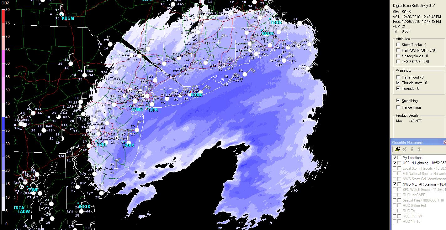 The Original Weather Blog December - Nyc radar map