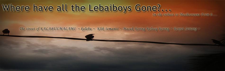 Where Have All The Lebaiboys Gone?...