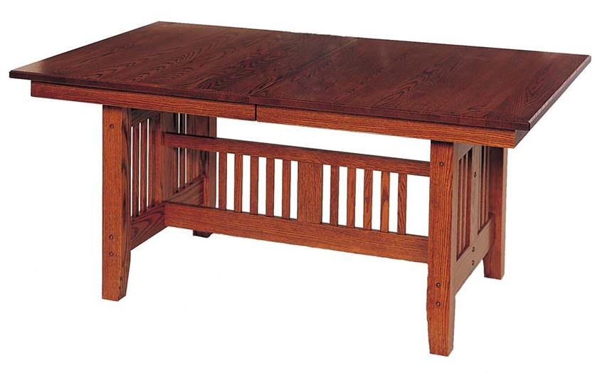 Handycrafted dutchcrafters amish furniture arts crafts for Mission style dining table