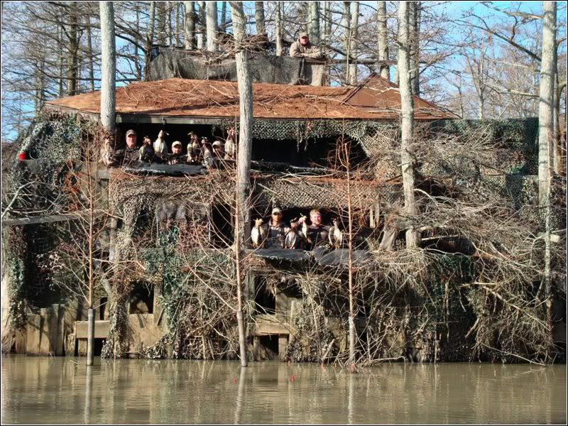 Lloyds Blog 3 story Duck Blind Near Forrest City Arkansas