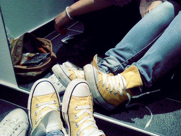 converse giallo chiaro