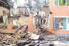 Kashmiri Muslim Houses bombarded