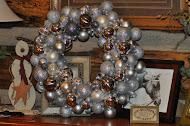 Silver bulb wreath