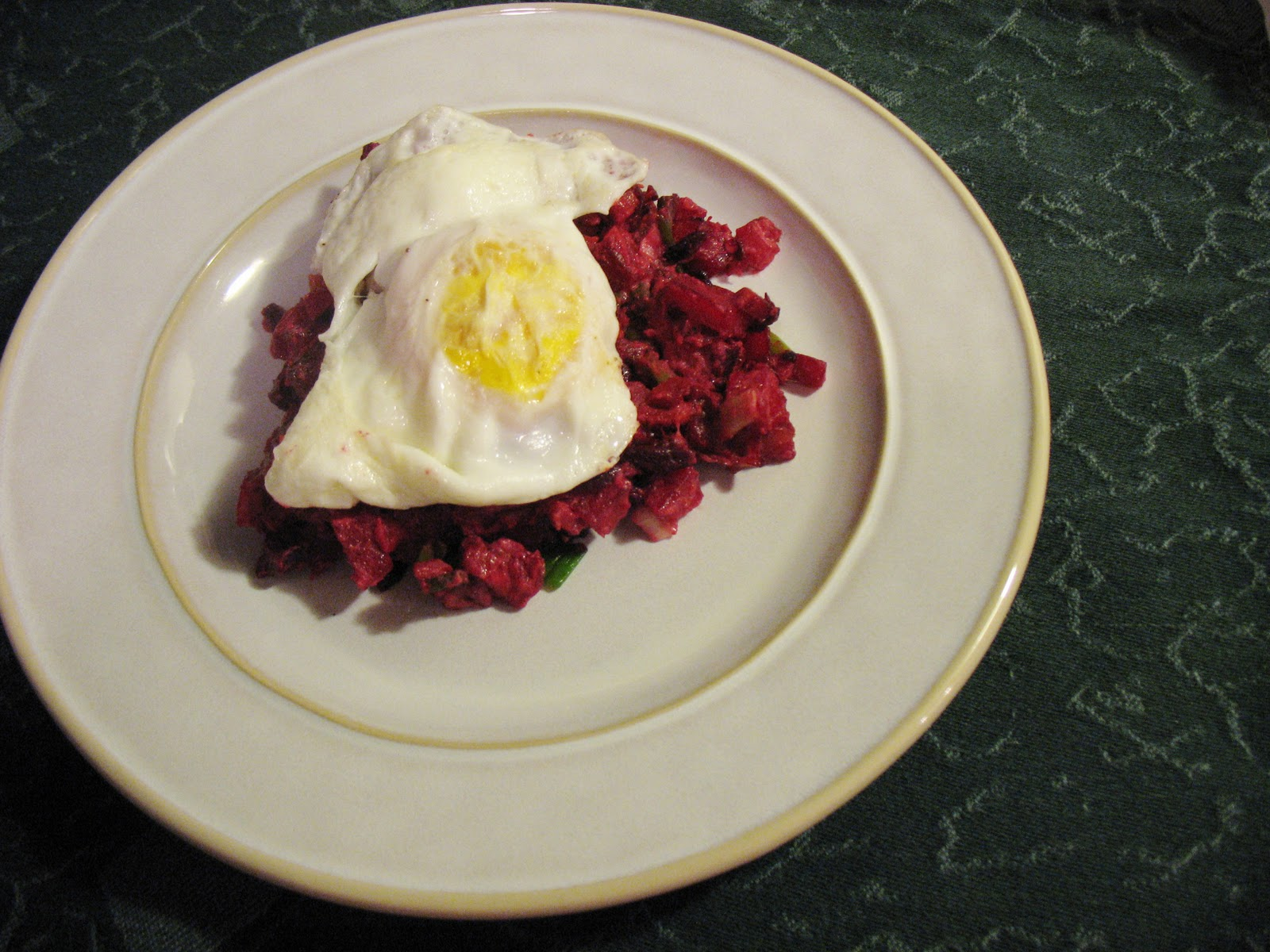 Red Flannel Hash with Spicy Mustard