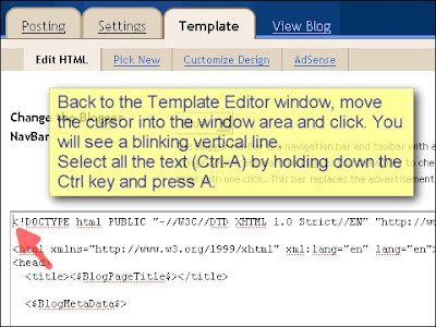 SEO Blogger Template Tutorial - Step 8
