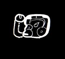 Glifo de cabeza que representa a Ek Balam o la estrella polar