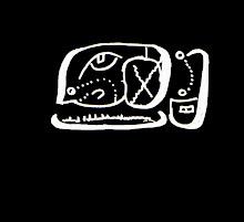 Glifo de cabeza del conejo con cartucho de carga de tiempo