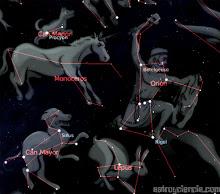 Las constelaciones que rodean al can: