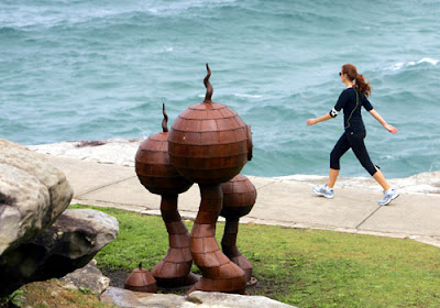 Walk on sea Sculpture
