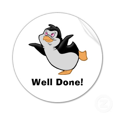 Gratitude list Penguin_dreaming_well_done_sticker-p217121495410386220qjcl_400
