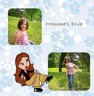 Diva Scrapbook page